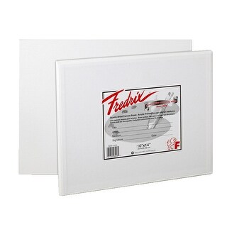 Fredrix Warp Resistant Canvas Panels, 10 x 14 Inches, Pack of 3
