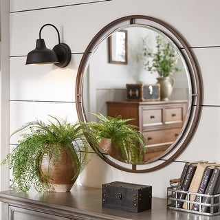 Link to Carbon Loft Floating Round Wall Mirror Similar Items in Mirrors