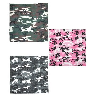 CTM® Urban Hunting Camouflage Bandanas (Pack of 3) - Multi - One Size