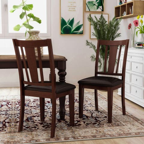 Furniture of America Vays Contemporary Espresso Dining Chairs (Set of 2)