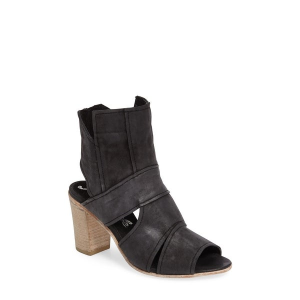 Free People Womens Effie Leather Open Toe Ankle Wrap Classic Pumps