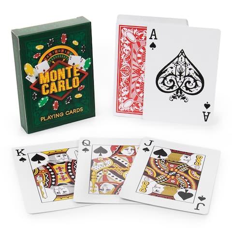 Monte Carlo Poker Decks - Red/White