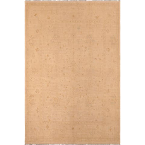Shabby Chic Sun faded Jeanie Tan/Brown Hand knotted Rug - 8'0 x 10'0 - 8 ft. 0 in. X 10 ft. 0 in.
