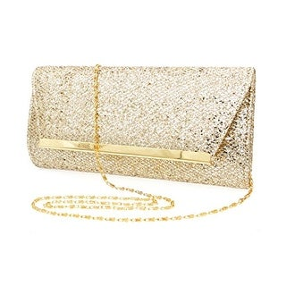 Ladies Simple Fashion Portable Sequins Clutch Evening Purse Shoulder Handbags