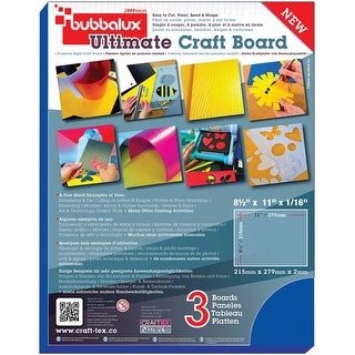 "Bubbalux Ultimate Creative Craft Board 8.5""X11"" 3/Pkg-Blue"
