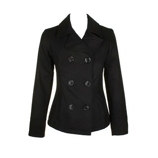 Celebrity Pink Juniors Black Double-Breasted Peacoat XXL
