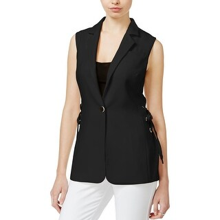 Rachel Roy Womens Vest Lace Up Sleeveless