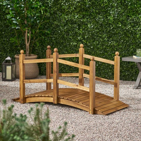 Paulding Outdoor Acacia Wood Outdoor Bridge by Christopher Knight Home