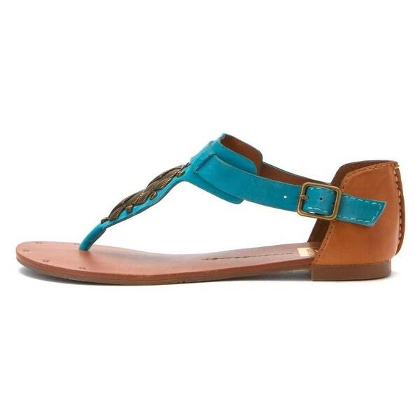 DV by Dolce Vita Womens Draya Split Toe Casual T-Strap Sandals