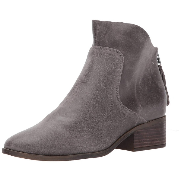 Lucky Brand Womens LAHELA Leather Almond Toe Ankle Fashion Boots