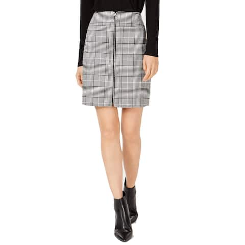 INC International Concepts Women's Plaid Zip-Front Skirt (XL)