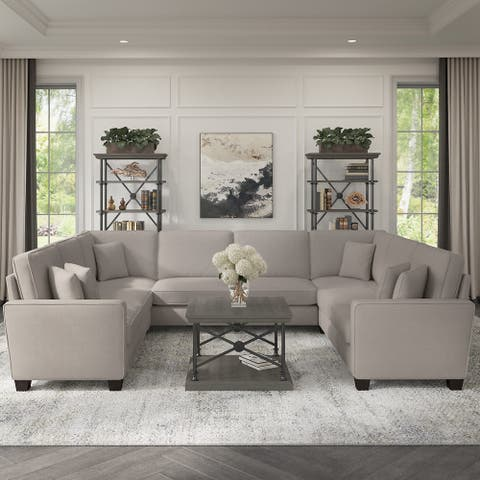 Stockton 123W U Shaped Sectional Couch by Bush Furniture