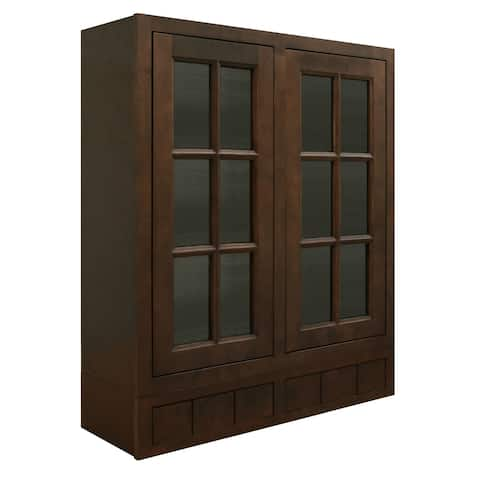 """Sunny Wood HBW3642GD6-A Healdsburg 36"""" x 42"""" Wall Cabinet with Glass Doors and 6 Drawers -"""