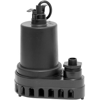 Superior Pump 91570 Thermoplastic Submersible Utility Pump, 1/2 HP