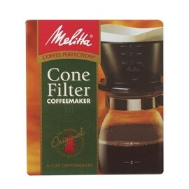 Melitta 640446 Manual Drip Coffeemaker, 2-6 Cup, Brown