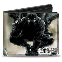 Ultimate Spider Man Marvel Spider Man Noir Issue #1 Cover Pose + Face Close Bi-Fold Wallet - One Size Fits most