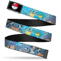 Poke Ball Fcg  Chrome Squirtle Evolution Poses Blue Swirl Webbing Web Belt