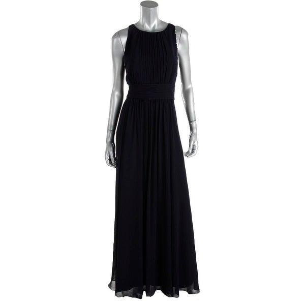 Lauren Ralph Lauren Womens Niketta Evening Dress Georgette Pleated
