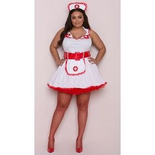 Plus Size Temptress Nurse Betty Costume - Red/White