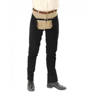 Tough-1 Western Chap Full Length Leather Schooling Double Stitch