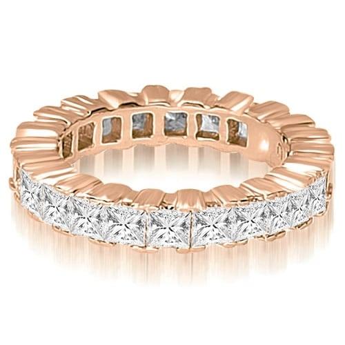 3.75 cttw. 14K Rose Gold Princess Prong Diamond Eternity Ring