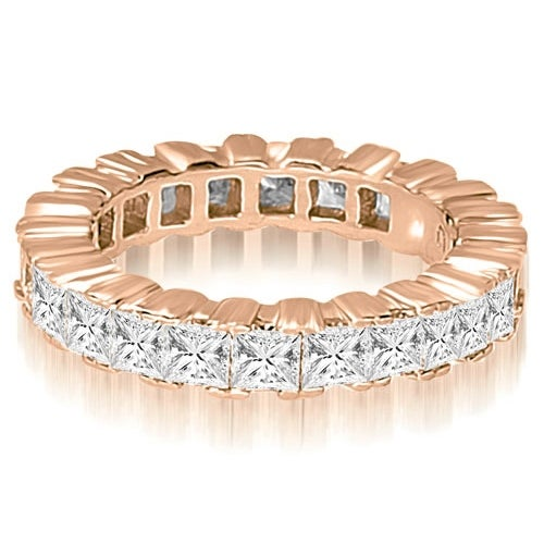 5.00 cttw. 14K Rose Gold Princess Prong Diamond Eternity Ring