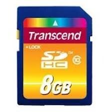 transcend CZ1087M Transcend 8GB Class 10 SDHC Card