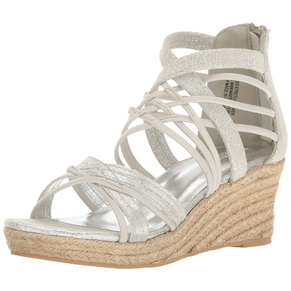 Kids Kenneth Cole Reaction Girls Reed Stretch Zipper Ankle Strap Wedge  Sandals cb590404da37