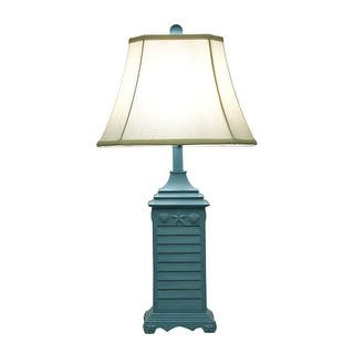Nautical lamp shades table lamps for less overstock seashell shutter table lamp wfabric shade 29 in aloadofball Image collections