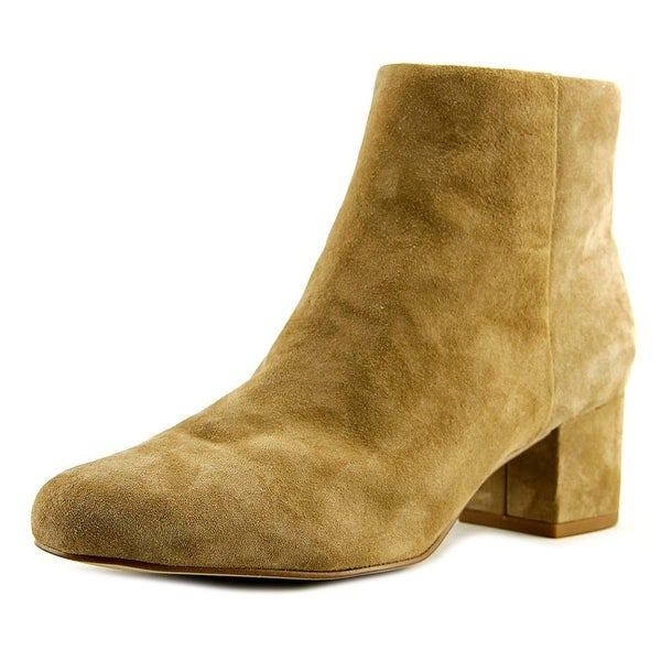 Sam Edelman Edith Women Round Toe Suede Tan Ankle Boot