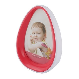 Unique Bargains Good Time Momery Plastic Shell Glass Front Tumbler shape Picture Frame Hot Pink