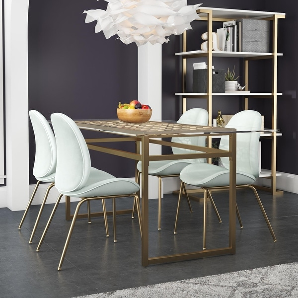 Cosmoliving by Cosmopolitan Juliette Glass Top Dining Table. Opens flyout.