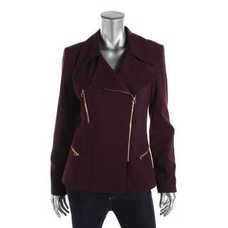 Calvin Klein Womens Asymmetric Lined Jacket - 6