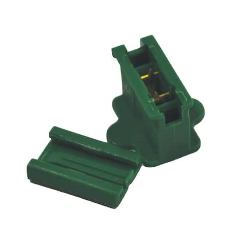 Holiday Bright Lights ZPLG-I Inline Christmas Slide Plug, Green