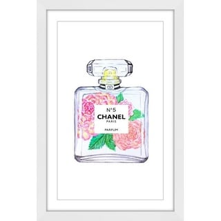 "Marmont Hill MH-DNTEL-17-WFP-36 36 Inch x 24 Inch ""Chanel Peony"" Framed Giclée A"