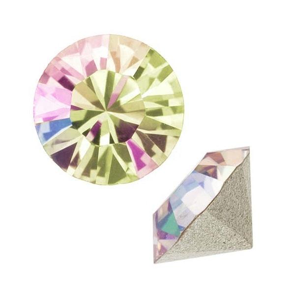 Swarovski Crystal, 1088 Xirius Round Stone Chatons pp14, 40 Pieces, Luminous Green F