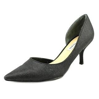 Nina Brynlee Women  Pointed Toe Canvas Black Heels