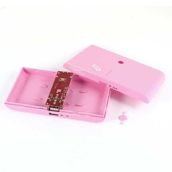 Unique Bargains 14cm Long Pink USB Power LED Light Bank 18650 Battery Charger DIY Box