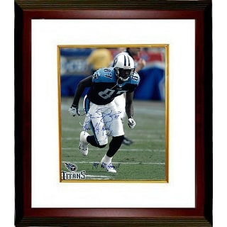 Kevin Dyson signed Tennessee Titans Action 16x20 Photo Custom Framed w/ triple Music City Miracle, 01/08/00 & 1999 AFC Champs!!