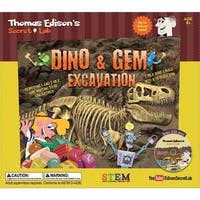 Edisons Lab Dino and Gem Excavation Kit, Educational Toys by Go Games