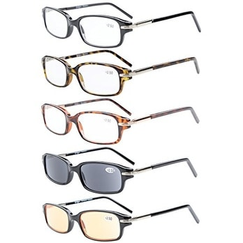 5-Pack Spring Temple Readers Include Reading Glasses Men +3.5