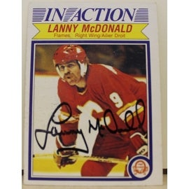 Lanny McDonald Calgary Flames Autographed 1982-83 O-Pee-Chee In Action Card