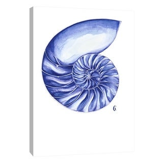 "PTM Images 9-105250  PTM Canvas Collection 10"" x 8"" - ""Sea Life in Pen 6"" Giclee Shells Art Print on Canvas"
