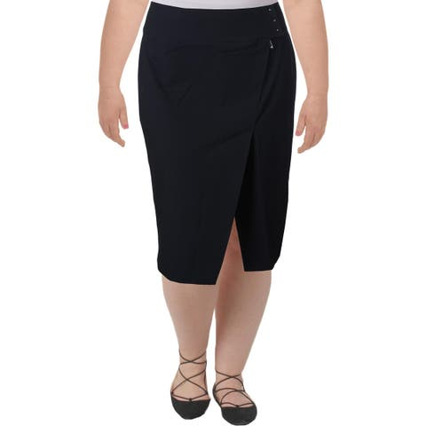 Ivanka Trump Womens Straight Skirt Side Slit Knee-Length