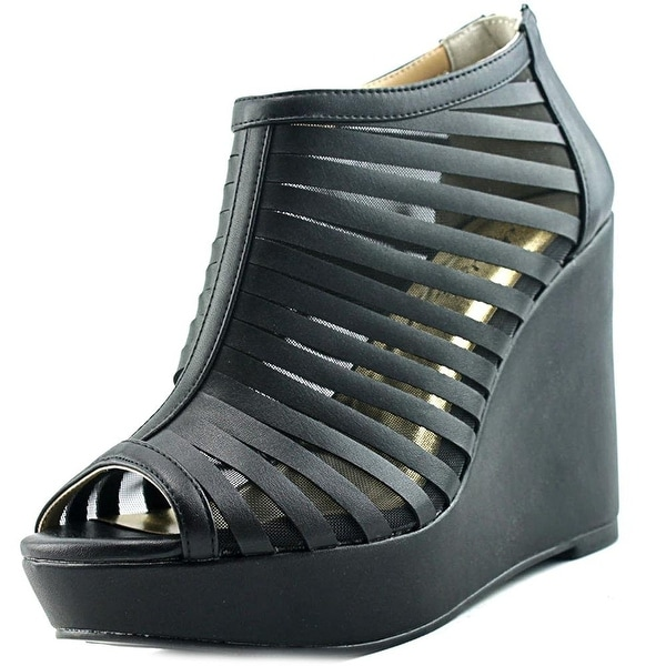 Thalia Sodi millo W Open Toe Leather Wedge Heel