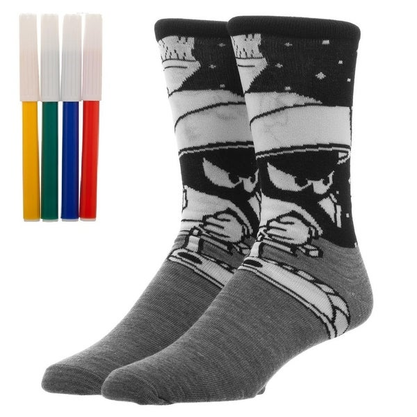Looney Tunes Marvin the Martian Color Yourself Men's Crew Sock
