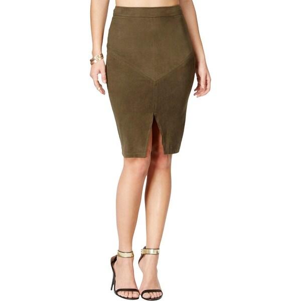 0de59bcc60859 Shop Material Girl Womens Pencil Skirt Stretch Slit - M - Free ...