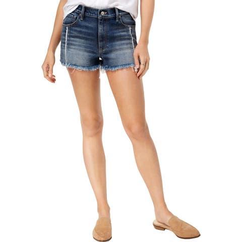 Lucky Brand Womens Cutoff Shorts Denim Frayed Hem