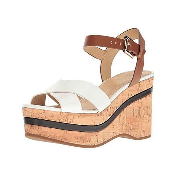 MICHAEL Michael Kors Womens Chandler Wedge Sandals Platforms Open Toe