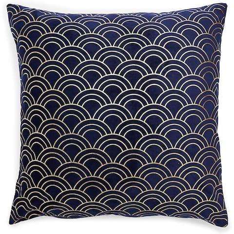 Velvet Square Throw Pillow Covers (Dark Blue, 18 x 18 in.)
